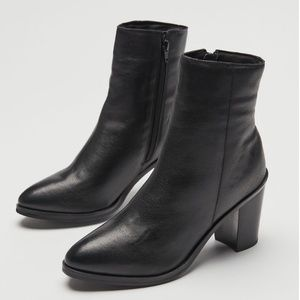 UO Maya Heeled Leather Boot